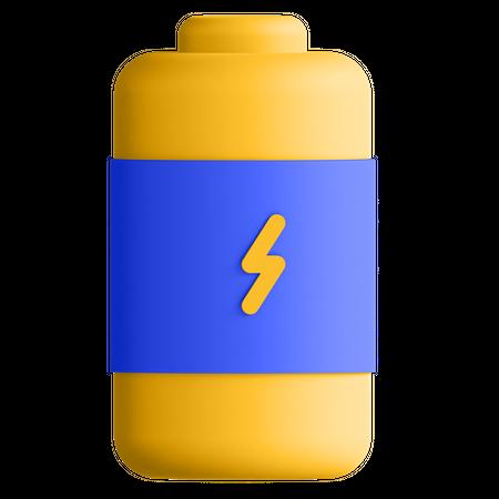 Charging Battery 3D Illustration