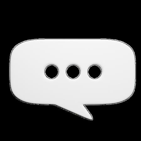 Chat Bubble 3D Illustration