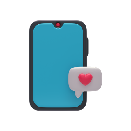 Chat Notification 3D Illustration