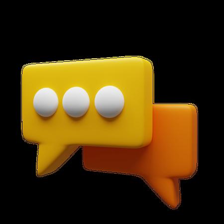 Chatting 3D Illustration