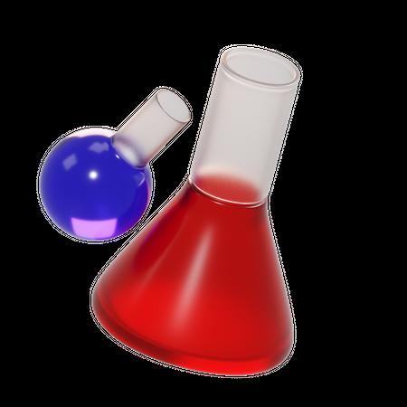 Chemical Flask 3D Illustration