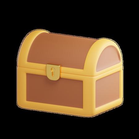 Chest Treasure 3D Illustration