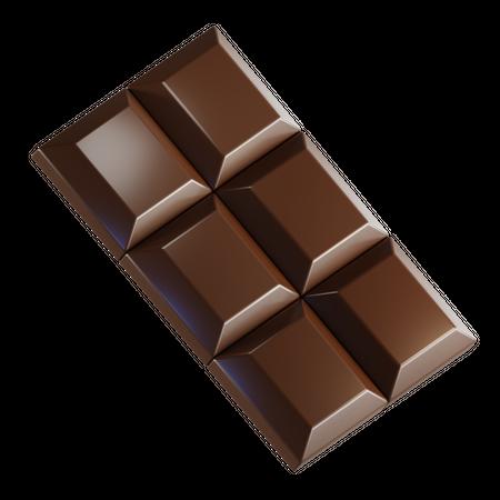 Chocolate Bar 3D Illustration