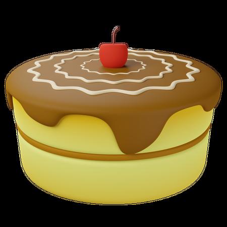 Chocolate Cake 3D Illustration