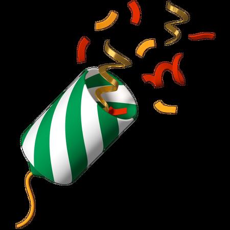Christmas cracker 3D Illustration