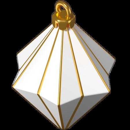 Christmas decoration bauble triangle 3D Illustration