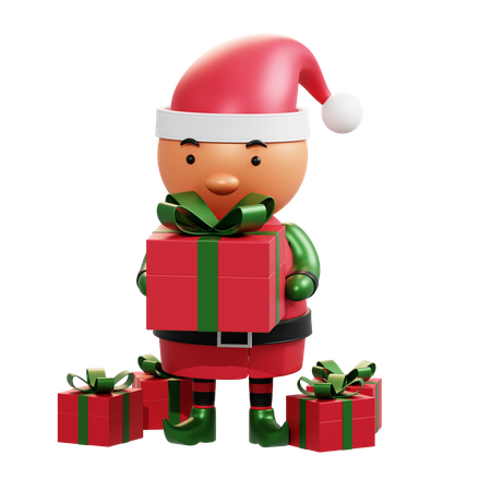 Christmas Elf 3D Illustration