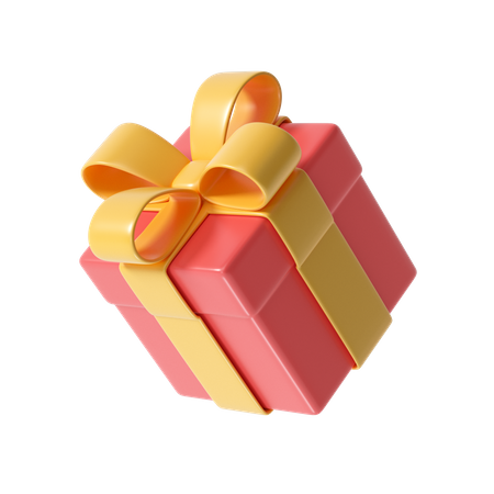 Christmas gift box 3D Illustration