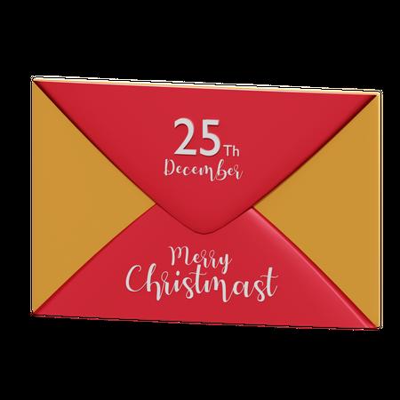 Christmas Invitation 3D Illustration