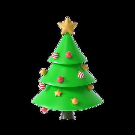 Christmas Tree 3D Illustration