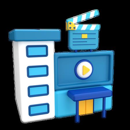 Cinema 3D Illustration