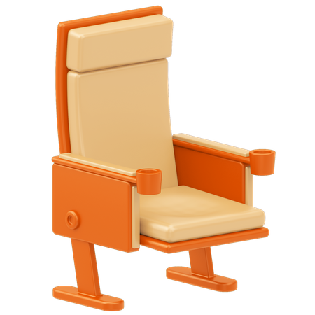 Cinema Chair 3D Illustration