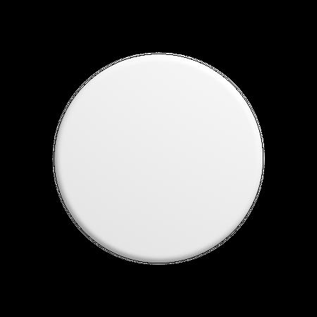 Circle button 3D Illustration