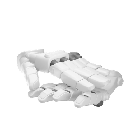 Clapping Robot hand 3D Illustration