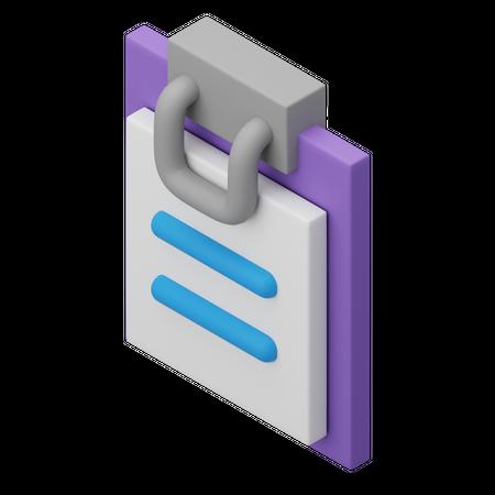 Clipboard 3D Illustration