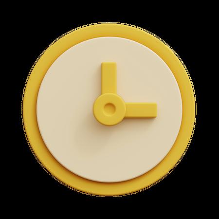 Clock 3D Illustration
