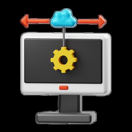 Cloud Configuration 3D Illustration
