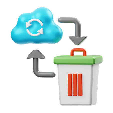 Cloud Data Recovery 3D Illustration