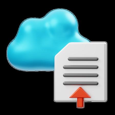 Cloud File Upload 3D Illustration