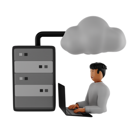 Cloud Hosting 3D Illustration