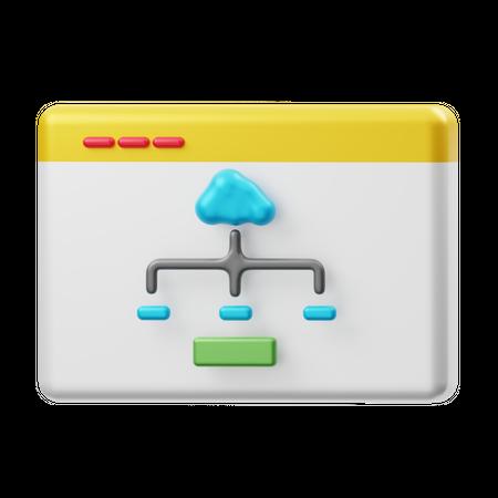 Cloud Management Data 3D Illustration