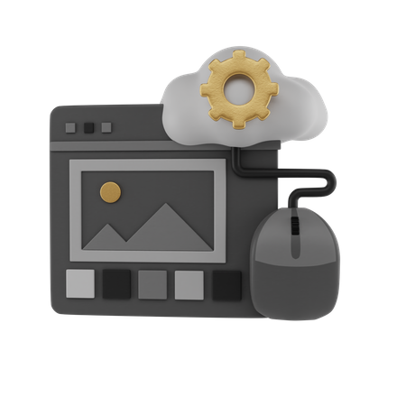 Cloud Media 3D Illustration
