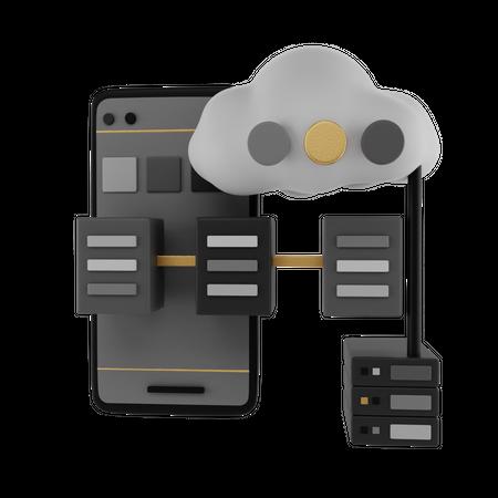 Cloud Network 3D Illustration
