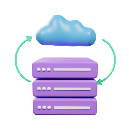 Cloud Server 3D Illustration