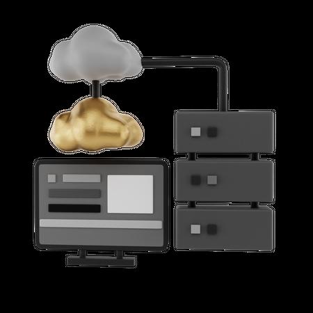 Cloud Services 3D Illustration