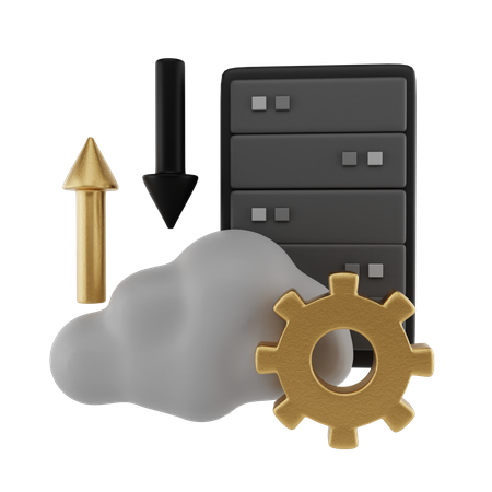 Cloud Transfer 3D Illustration