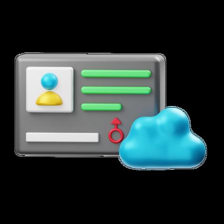 Cloud User Identity 3D Illustration