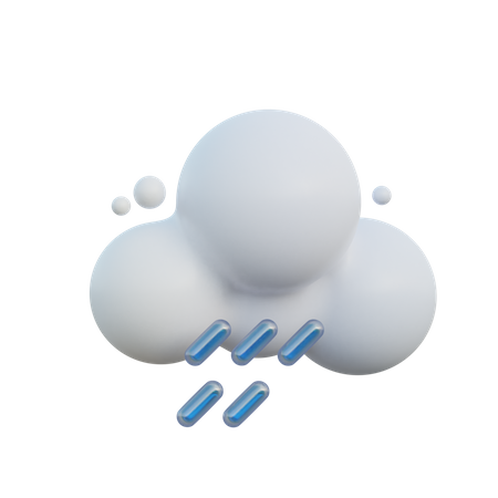 Cloudy And Rainy 3D Illustration