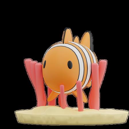 Clown Fish 3D Illustration