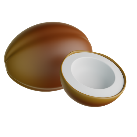 Coconut 3D Illustration