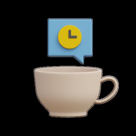 Coffee Break 3D Illustration