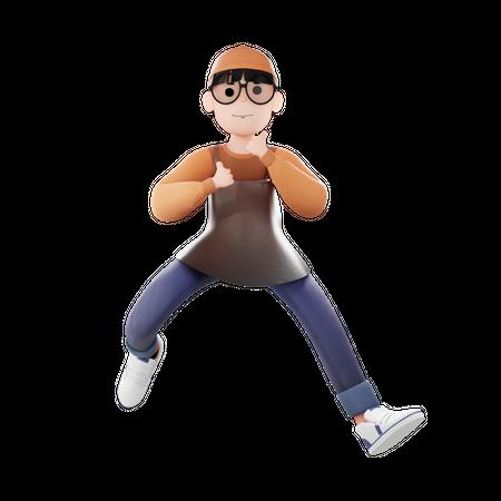 Coffee Man 3D Illustration