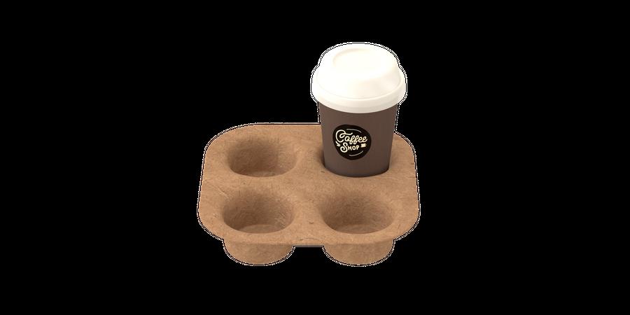 Coffee tray 3D Illustration