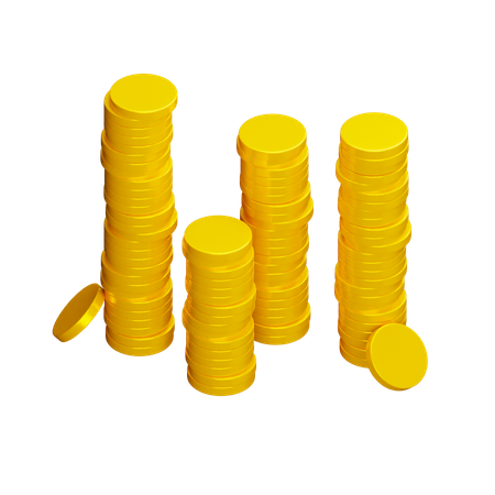 Coins 3D Illustration