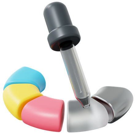 Color dropper 3D Illustration