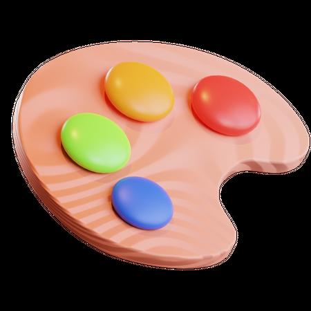 Color Palette 3D Illustration
