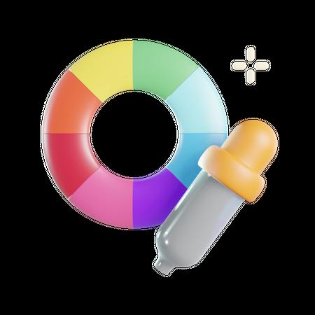 Color Picker 3D Illustration