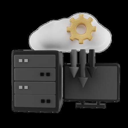 Computer Configuration 3D Illustration