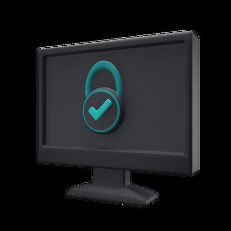 Computer Security 3D Illustration