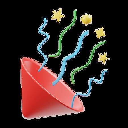 Confetti 3D Illustration