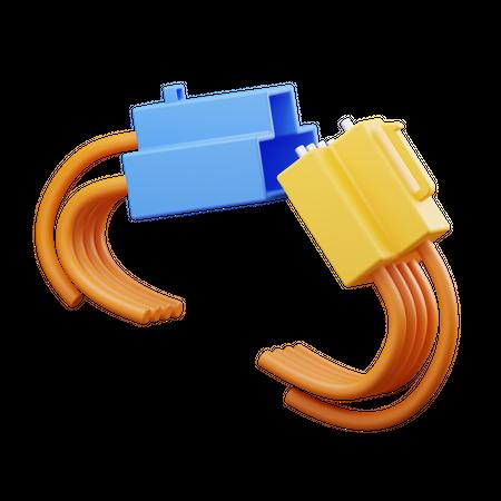 Connector 3D Illustration