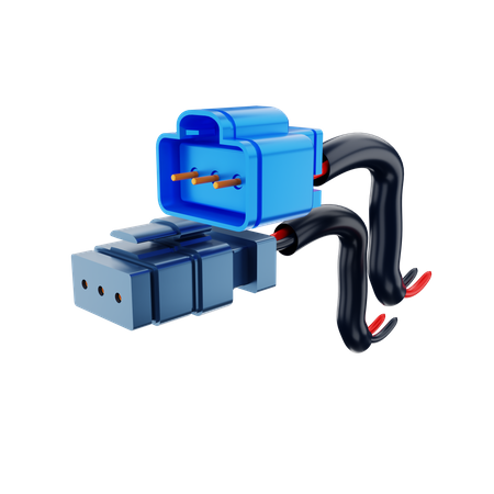 Connector Cable 3D Illustration