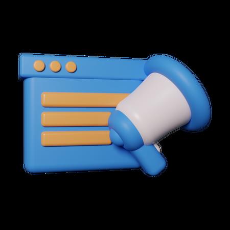 Content marketing 3D Illustration