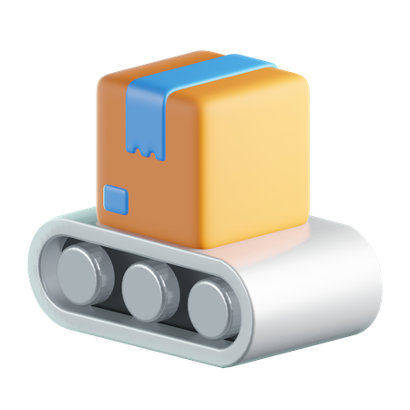 Conveyor Belt 3D Illustration