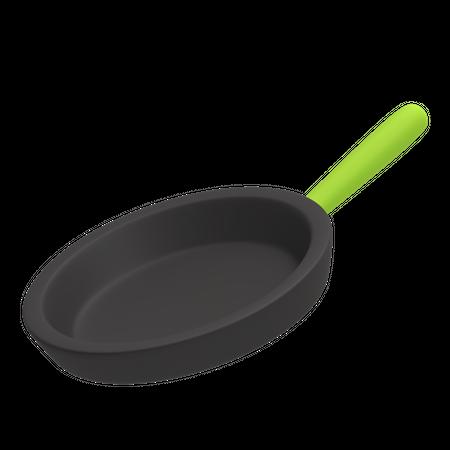 Cooking pan 3D Illustration