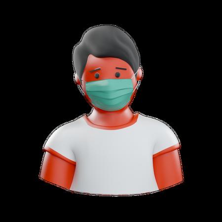 Corona Patient 3D Illustration
